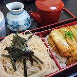 そば庵 六良 - 料理写真:カツ丼セット1050円+そば大盛り70円
