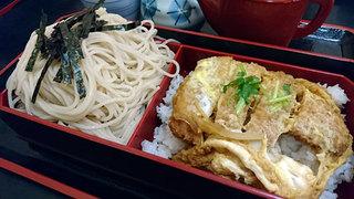 そば庵 六良 - カツ丼セット1050円+そば大盛り70円
