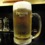 信濃神麺 烈士洵名 - 瓶のモルツビールは苦手ですが、生ビールは好き