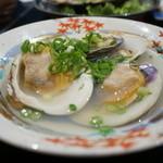 和台所 花 - ホンビノス貝酒蒸し・・ホンビノス貝とは白ハマグリのこと。