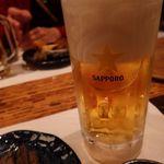 かんなぎ - ドリンク写真:黒ラベル生ビール