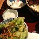 45764159 - ランチサラダとデザートの杏仁ちゃん