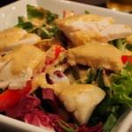 bellDining - ベル特製サラダ とりハムと蟹足の贅沢サラダ ドレッシングが手作りですごく美味しい