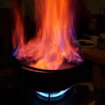 どん平 - どん平(東京都荒川区西尾久)炎の酒鍋
