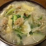 どん平 - どん平(東京都荒川区西尾久)炎の酒鍋1800円