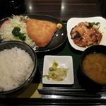 串の味 東八 - 鯵フライと照焼