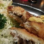 串の味 東八 - 鯵フライ;アップ;辛子もつけて