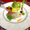 ブラッスリー上岡 - 料理写真:本日のサラダ♪鴨のローストとイカのポテトサラダ詰め