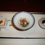菊華荘 - 河豚前菜(H.27.12)