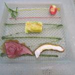 UZAWA - 前菜:野菜、海の幸マリネ