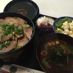 親潮 - 煮ぶた丼定食(1,000円)★★☆☆☆