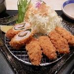 とんかつ かつ喜  - 牡蠣梅シソ手巻きかつ膳¥1501