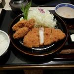 とんかつ かつ喜  - 四元豚牡蠣ロース膳セット¥1814