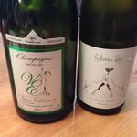 45786772 - 白ワインとシャンパーニュ