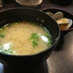 写楽 - 浅利味噌汁