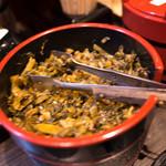 暖暮 - 辛子高菜ももちろん用意。