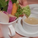 ダ イシザキ - 本日の小前菜 季節の生野菜バーニャカウダー