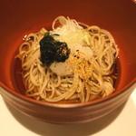 東郷 - 蕎麦 (生海苔と大根おろしで)
