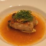 東郷 - 魚 (金目鯛の黄身酢焼き 浅蜊のブイヤベース)