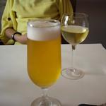 TRATTORIA 522 - 夫婦2人の休日ランチはまずは生ビールと白ワインから♪