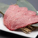 博多みやちく - 料理写真:宮崎牛希少部位「ミスジ」1頭から約2㌔しか取れないレア商品
