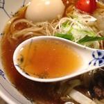 名前のないラーメン屋 - 淡麗らーめんのスープ