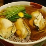 康正庵 - 牡蛎そば(1500円)
