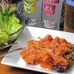 焼肉 三甲 - 料理写真:せせり明太焼き