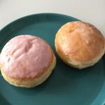 グランジュール - 料理写真:ふんわりドーナツ   イチゴ 120円  グレーズ 100円