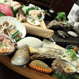 全国各地から取り寄せた鮮度抜群の貝料理!