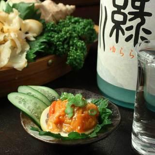 貝料理に合う日本酒、珍しいお酒も♪