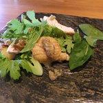 45806682 - ローストチキンのサラダ(蕎麦コースの前菜)
