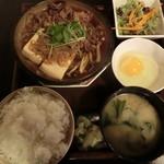 伊千兵衛 dining - (参考画像)2014.11 肉豆腐定食 700円