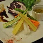 レストラン 客宝館 - 有機野菜のバーニャカウダ