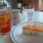 パパス カフェ - マンゴーチーズケーキ
