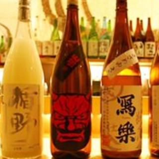 季節ごとに楽しめる!各地の日本酒・焼酎・梅酒が充実