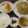 生野飯店 - 料理写真:揚げそば定食 2015.12