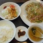 生野飯店 - 揚げそば定食 2015.12