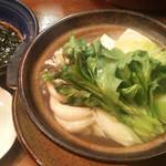 一富 - 一富(福岡市博多区中洲)若どりスープ炊き1200円