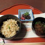 美濃吉 - かやくご飯と赤出汁