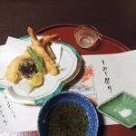 美濃吉 - 伊豆大島のお塩で蟹の天ぷら