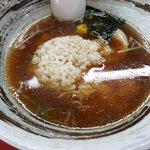 魚介ラーメン武蔵 - ご飯in