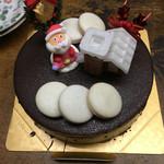 45825253 - ムースオショコラのクリスマスケーキ
