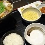 味喰笑 - ちゃんこ鍋御膳+ちゃんぽん麺♪