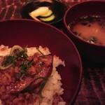Shunjuuyurari - ~春秋ユラリ 恵比寿~             フォアグラ味噌漬け焼きの小丼