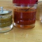 山久ラーメン - 料理写真:辛みの赤味噌と柚木胡椒のような味噌