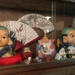 鴨猟理 まりも本店 - エビスビールを持った恵比寿様。超貴重な人形です!