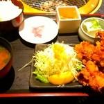 居酒家三昧「本日のおすすめ」 - 唐揚げ定食 700円!