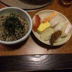 毘沙門天 - お蕎麦とお寿司のコラボレーション