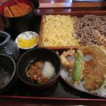 そば処 一庵 - 二色板とミニソースカツ丼。